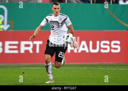 Ingolstadt, Deutschland. 15th Mar, 2019. Cadre nomination at DFB team: Maximilian EGGESTEIN appointed to national team. Image: Maximilian EGGESTEIN (GER), action, single action, single image, cut out, full body shot, whole figure. Soccer U-21 Laenderspiel.EM Qualification, Germany (GER) - Norway (NOR) 2-1, on 12.10.2018 in Ingolstadt/AUDI SPORTPARK. DFB REGULATIONS PROHIBIT ANY USE OF PHOTOGRAPH AS IMAGE SEQUENCES AND/OR QUASI VIDEO. | Usage worldwide Credit: dpa/Alamy Live News - Stock Photo