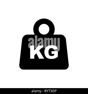 Weight packaging symbol simple flat style icon isolated. - Stock Photo
