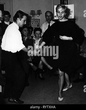 dance, jitterbug, champion 'Stupsi' dancing, Munich, 1958, Additional-Rights-Clearance-Info-Not-Available - Stock Photo