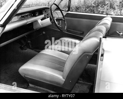 transport / transportation, cars, vehicle variants, Ford Consul Capri, detail, inside, front seat, Ford of Britain, 1961, Additional-Rights-Clearance-Info-Not-Available - Stock Photo