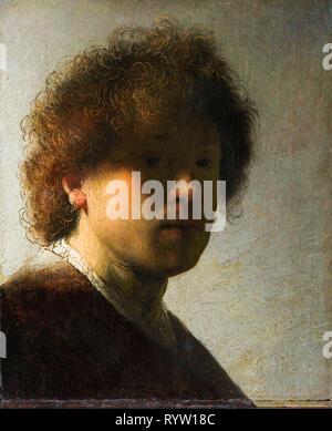 Rembrandt van Rijn (1606-1669), self portrait, c. 1628 - Stock Photo