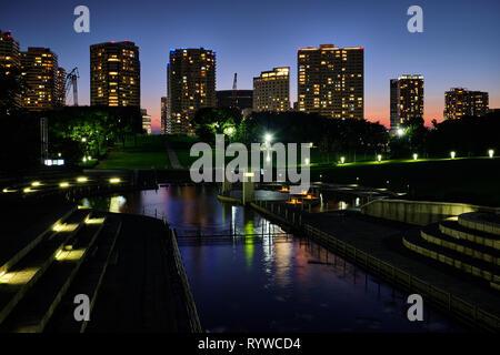 Pictured is city sights at Yokohama Japan - Stock Photo