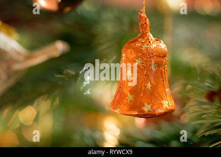 Christbaum Weihnachtsdekoration - Glocke - Stock Photo