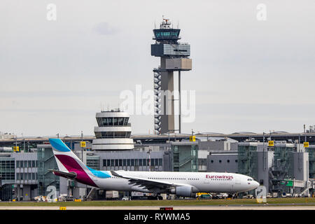 Dusseldorf International Airport, DUS, Eurowings, Airbus A330-203, - Stock Photo