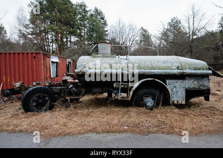 Chernobyl nuclear power plant exclusion zone - Stock Photo