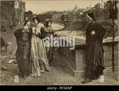 Dante_and_Beatrice,_by_Henry_Holiday - Stock Photo