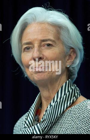 Christine Lagarde - 01.01.1956: French politician, Managing Director of the International Monetary Fund IMF. - Stock Photo