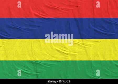 3d rendering of Republic of Mauritius flag - Stock Photo