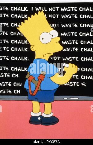 BART SIMPSON, THE SIMPSONS, 1989 - Stock Photo