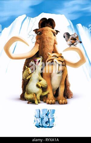 MANNY, SID, DIEGO,SCRAT, ICE AGE, 2002 - Stock Photo