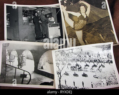Personal photographs and memorabilia of fighting Americans during the Second World War. - Stock Photo