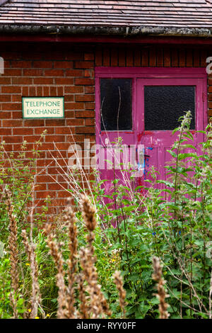 Old telephone exchange in a small village in  North Lincolnshire. - Stock Photo