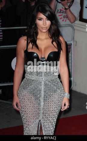 Sep 02, 2014 - London, England, UK - GQ Men of the Year Awards 2014, Royal Opera House, Covent Garden Photo Shows: Kim Kardashian - Stock Photo