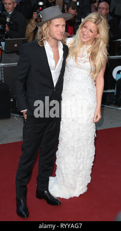 Sep 02, 2014 - London, England, UK - GQ Men of the Year Awards 2014, Royal Opera House, Covent Garden Photo Shows: Dougie Poynter; Ellie Goulding - Stock Photo
