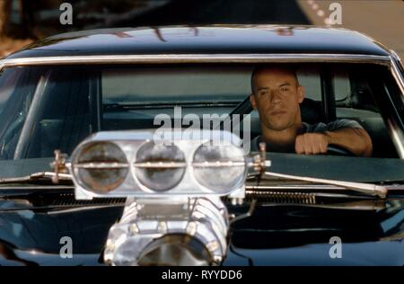 VIN DIESEL, THE FAST AND THE FURIOUS, 2001 - Stock Photo