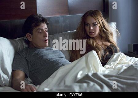 Charlie Sheen Lindsay Lohan Scary Movie 5 2013 Stock Photo Alamy