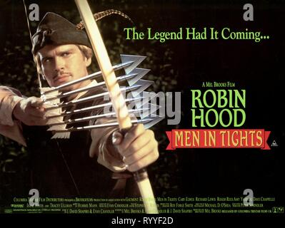 CARY ELWES MOVIE POSTER, ROBIN HOOD: MEN IN TIGHTS, 1993 - Stock Photo