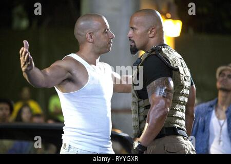 DIESEL,JOHNSON, FAST FIVE, 2011 - Stock Photo