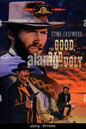 CLINT EASTWOOD, LEE VAN CLEEF,ELI WALLACH POSTER, THE GOOD  THE BAD AND THE UGLY, 1966 - Stock Photo