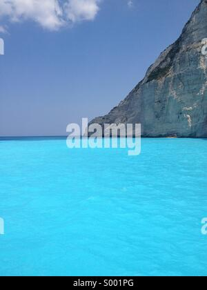 Smuggler's Cove, Zakynthos - Stock Photo