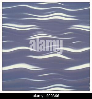 A pattern of soft white waves - Stock Photo