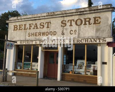 Old hardware store Cromwell New Zealand - Stock Photo
