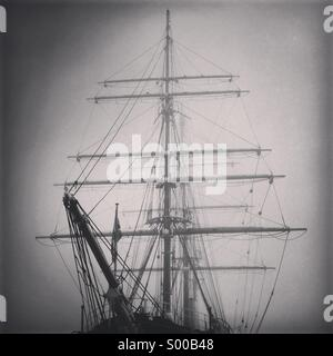 Royal Research Ship Discovery's first mission was the British National Antarctic Expedition, carrying Robert Falcon - Stock Photo