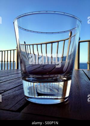 View through a glass - Stock Photo