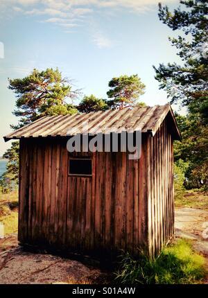 August Strindberg's writing hut near Stockholm, Sweden. - Stock Photo