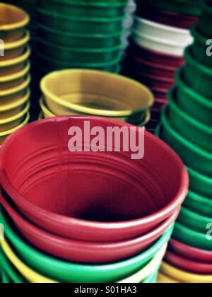 Colour plant pots - Stock Photo