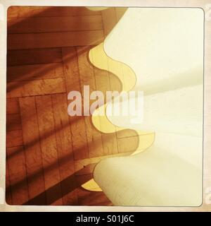 floor and curtain with shadow - Stock Photo