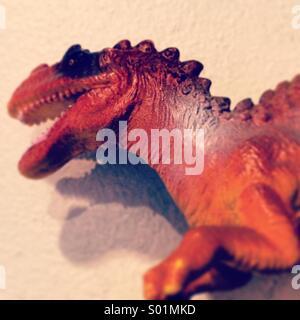 Tyrannosaurs Rex Plastic Toy. - Stock Photo