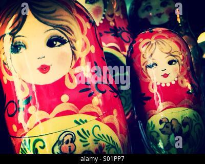 Matryoshka, Matryoshki, Russian Nesting Dolls - Stock Photo