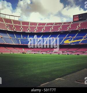 FC barcelona's home stadium at Nou Camp - Stock Photo
