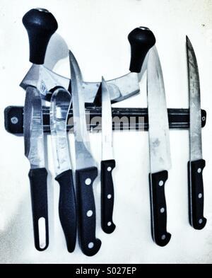 Kitchen knives - Stock Photo