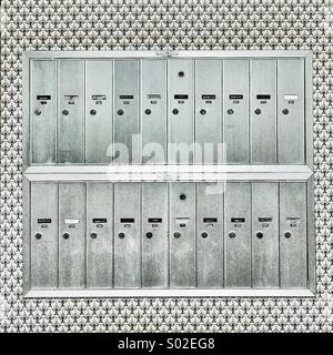 Mailboxes and surrounding patterns - Stock Photo