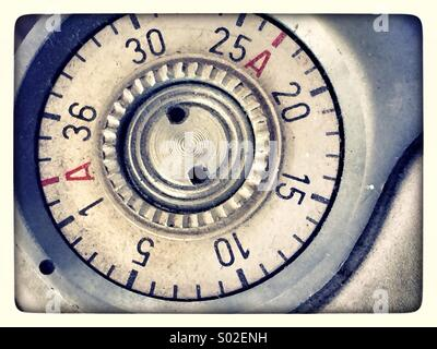 vintage camera film numbering - Stock Photo
