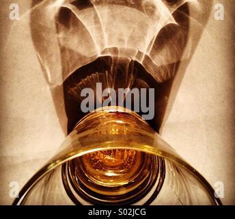 Glass wish shaddow - Stock Photo