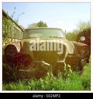 Very rusty Studebaker car - Stock Photo