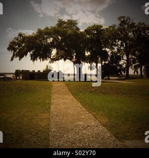 Fort Frederica National Monument, St. Simon's Island, Georgia - Stock Photo