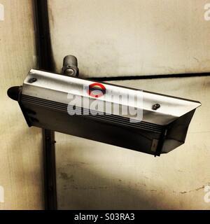 London Underground CCTV surveillance camera. - Stock Photo