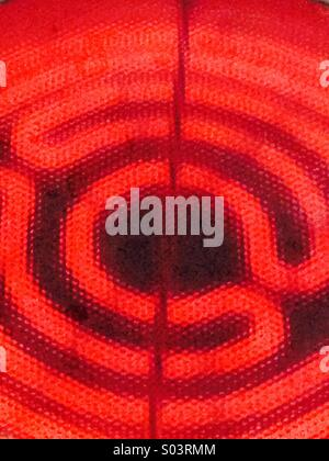 Hob electric hearing element - Stock Photo
