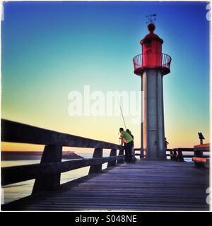 Lighthouse. Trouville sur Mer lighthouse. Noemandy, France - Stock Photo