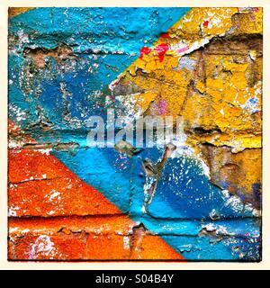 Graffiti paint detail shot - Stock Photo