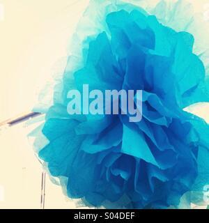 Blue paper flower - Stock Photo