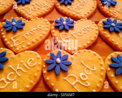 Wedding favour biscuits - Stock Photo