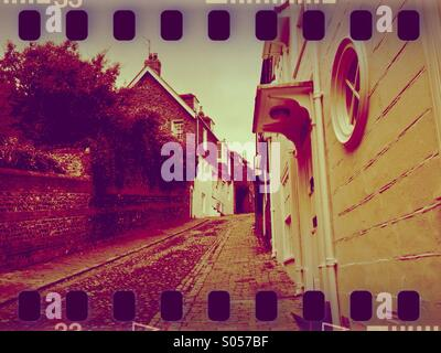 Keere Street, Lewes, East Sussex, United Kingdom - Stock Photo
