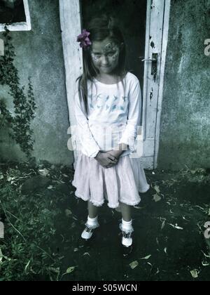 Scared girl - Stock Photo