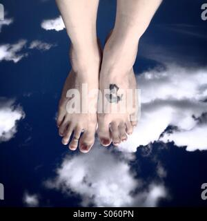 Walking on clouds - Stock Photo