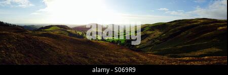View from bwlch nant yr Arian - Stock Photo